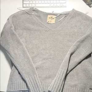 Cropped Grey Hollister Sweater